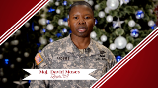 Military Greeting: Maj. David Moses