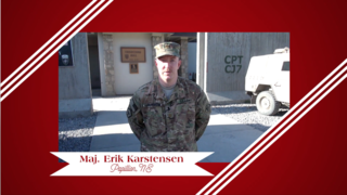 Military Greeting: Maj. Erik Karstensen