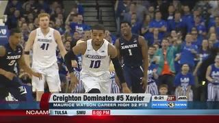 Creighton Upsets #5 Xavier 70-56