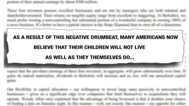 Annual Shareholder Letter: Warren Buffett Shareholder Letter, Annual ...