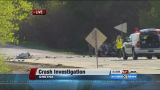 Serious crash in Gretna on Highway 6