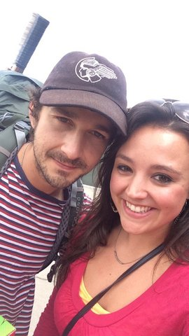 LaBeouf's hitchhiking trip brings him to Omaha