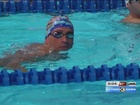 Athletes getting ready for Olympic Swim Trials