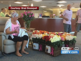 Cancer survivor who donated roses continues care