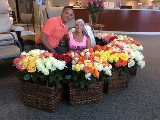 Husband gets wife 500 roses for last chemo