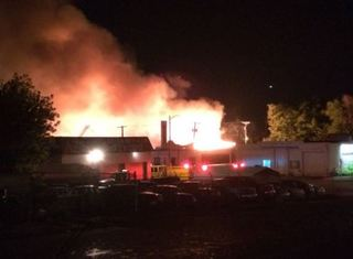 Massive building fire in south Omaha