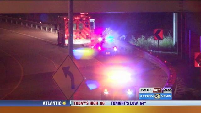 Motorcycle crash kills one person