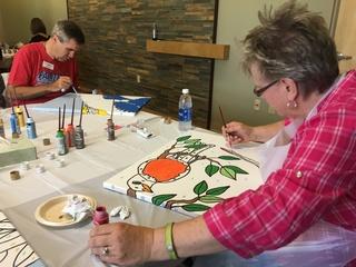 Cancer patients, families, survivors paint