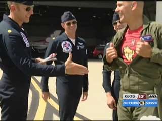 The Thunderbirds invite a special guest onboard