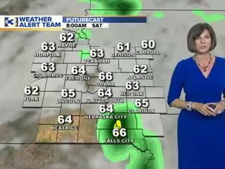 Spotty storms next week
