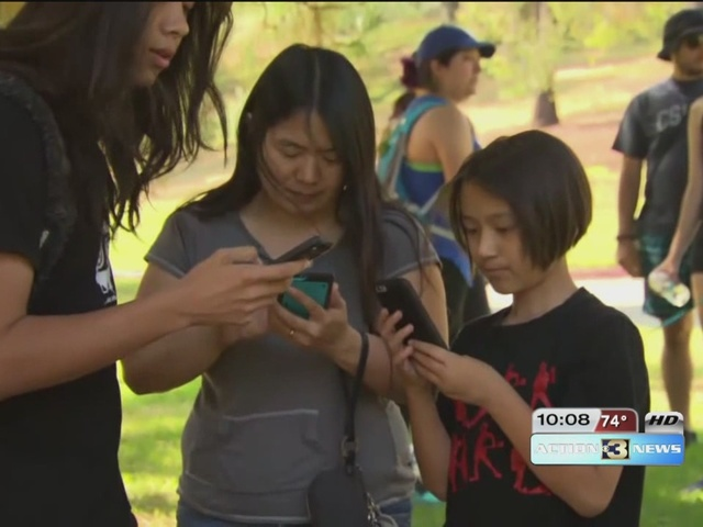 Pokemon Go players clean up cemetery