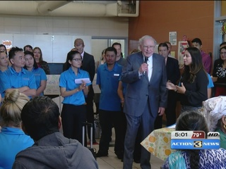Warren Buffett makes special visit in South O