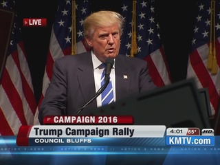 Donald Trump holds rally in Council Bluffs