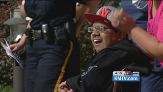 Omaha police surprise man hit by drunk driver