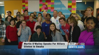 Former presidential candidate campaigns in Omaha