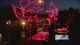 Communities glow in pink to celebrate Speers