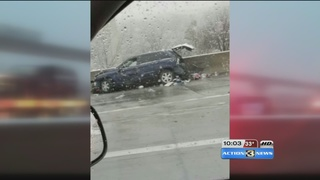 Several injured during weather related crash