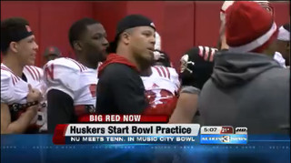 Huskers Begin Practice for Bowl Game