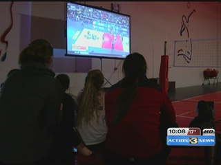 Fans gather to watch Nebraska Volleyball
