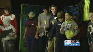 Developmentally disabled kids write, stage play