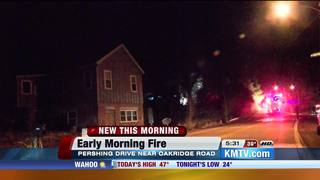 Fire crews battle structure fire in Ponca Hills