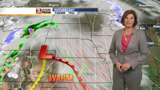 Drier, Cooler Conditions Sunday