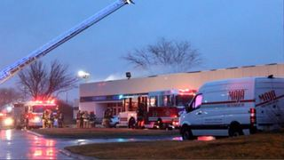 Fire damages building near Eppley