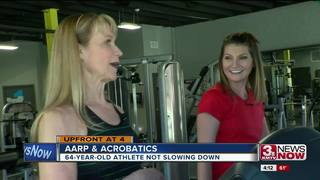 Iowa woman, 64, pole vaults and does cartwheels