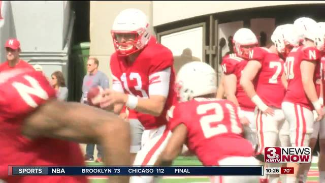 Lee, O'Brien come out of Huskers' spring game still battling