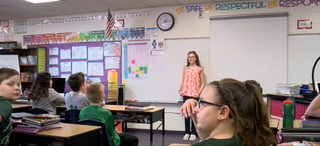 In the classroom: 6th grade speech competition