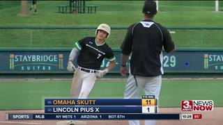 Skutt beats Pius at state baseball, 11-1