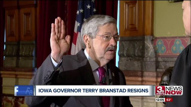 Iowa swears in new governor as former governor becomes Chinese ambassador