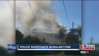 Rare burglary-fire call for OPD, OFD