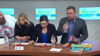 Morning Blend hosts have on-air eating contest