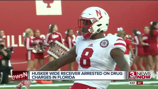 Husker wide receiver and safety arrested in Florida