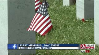 Memorial Day ceremony at Omaha National Ceremony