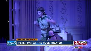 Peter Pan onstage at the Rose