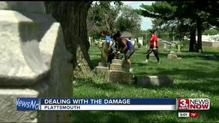 Big clean up after storm rips through cemetery