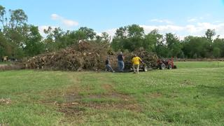 Volunteers help cleanup Falconwood Park