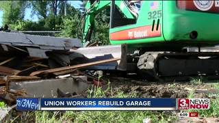 Union Workers Rebuild Garage