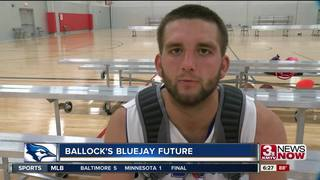 Mitchell Ballock is glad to be a Bluejay