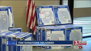 Assessor's office employees donate fans