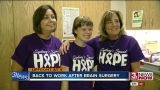 Woman back to work after two brain surgeries