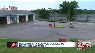 Bellevue council votes to demolish car wash
