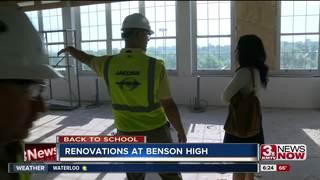 Construction underway, Benson High gives tour