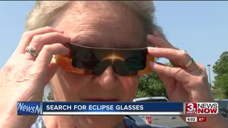 People rushing to get eclipse glasses