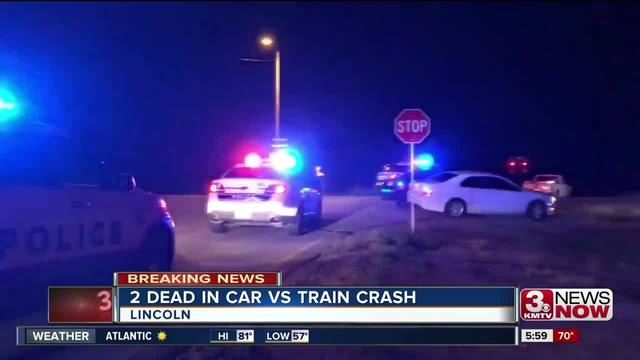 Two teens killed as train slams into vehicle at Lincoln rail crossing