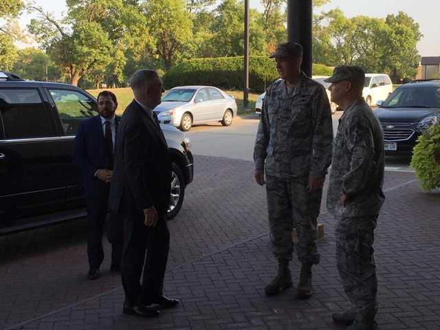 Secretary of Defense Jim Mattis visits Stratcom