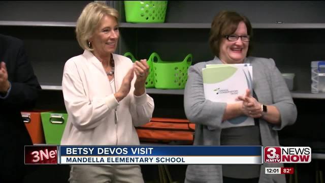 U.S. Secretary of Education visited Nelson Mandela Elementary in Omaha on Sept. 14