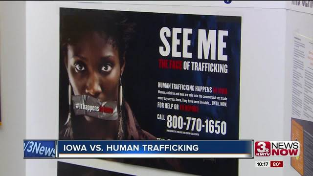 Iowa governor calls for crackdown on human trafficking
